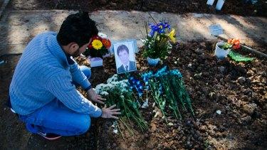 Rahmat* (not his real name) visits the grave of Hazara asylum seeker Mohammad Hadi regularly.