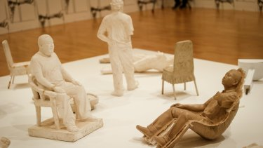 Maquettes by Ai Weiwei depicting his time in custody while imprisoned by Chinese authorities.