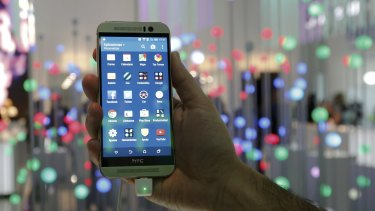 The HTC One M9. HTC has used Google to build computing architecture that enables smartphone apps to update data quickly.