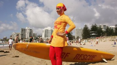 The burkini is seen as a symbol of integration, says its designer. Here lifesaver Mecca Laa Laa wears a burkini on her first patrol at North Cronulla Beach in 2007.