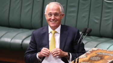 Prime Minister Malcolm Turnbull during question time as Parliament resumes.