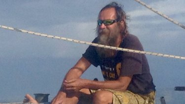 Kris Larsen was rescued on his homemade boat off the coast of Hawaii.