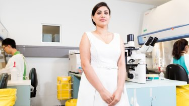 Scientist Dr Shweta Tikoo, in the Centenary Institute, Camperdown, Sydney.