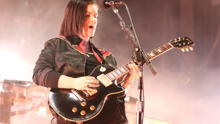 Artist Romy Madley Croft delivered powerful moments alone with the guitar.