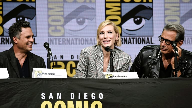 Cate Blanchett, Mark Ruffalo and Jeff Goldblum discuss Thor: Ragnarok at Comic-Con.