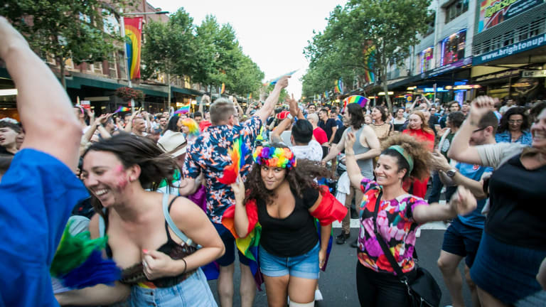 The LGBTQI community and marriage equality advocates celebrate the yes vote.