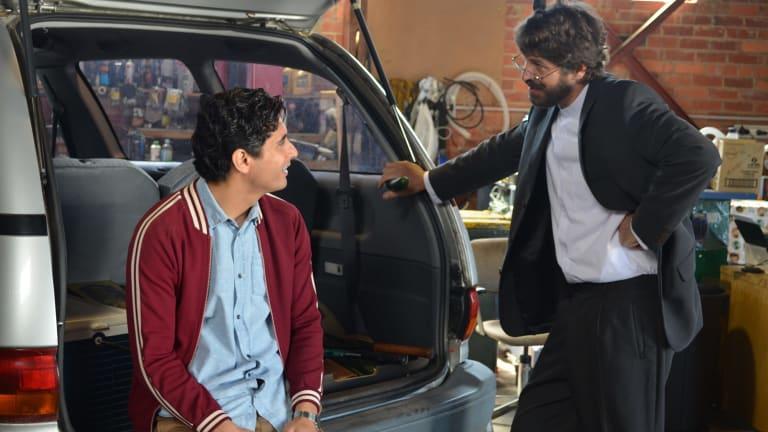 Sami as Ali and Don Hany as his father, Mahdi.