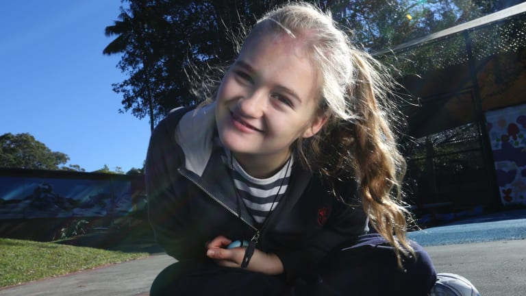 Abbey Brimble, 12, has a rare genetic condition that might be identified through whole genome testing.