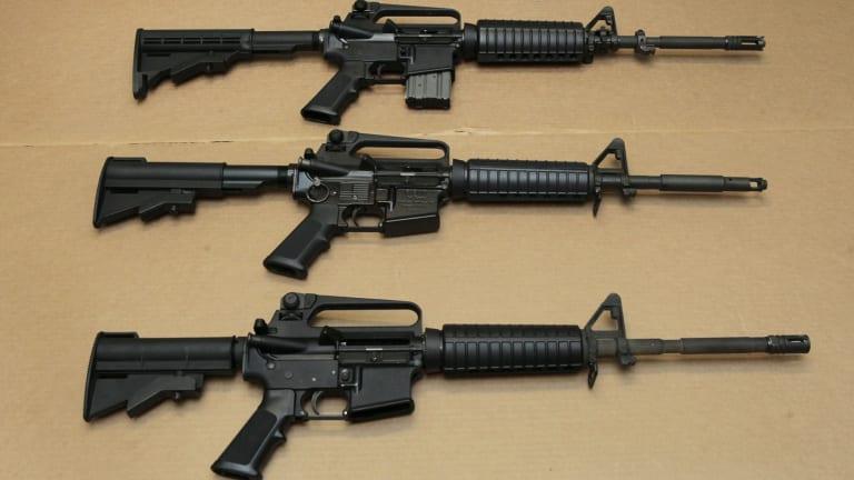 The AR-15 assault rifle.