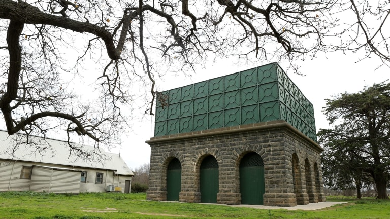 The heritage-listed water tower at Cocoroc, within the site of the Western Treatment Plant, will house Megan Evans' multimedia work for the Treatment art project.