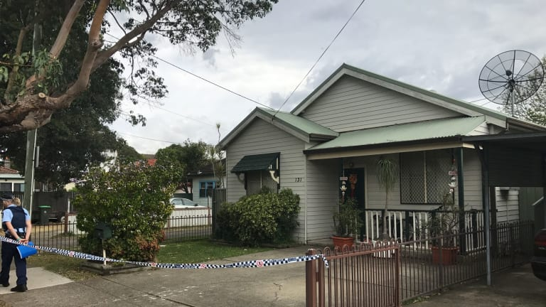 The Campsie property, where a woman was beaten brutally with a hammer and knife.