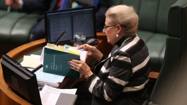 Madam Speaker Bronwyn Bishop during question time on Tuesday.