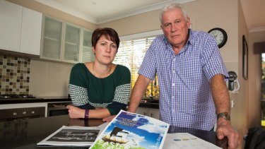 Iain Luck and his partner Sarah Taylor who paid $9999 for panels for his home in Warragul, Victoria.