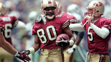 Legend: Jerry Rice won three Super Bowls with the San Francisco 49ers.