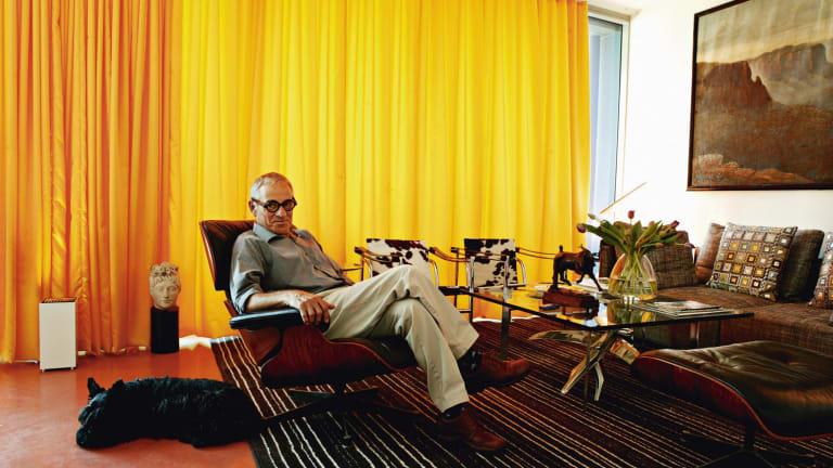Interior designer George Freedman in his Surry Hills apartment.
