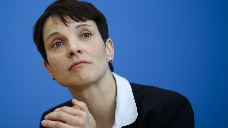 Frauke Petry, leader of the right-wing Alternative for Germany party that hit its highest polling numbers this year.