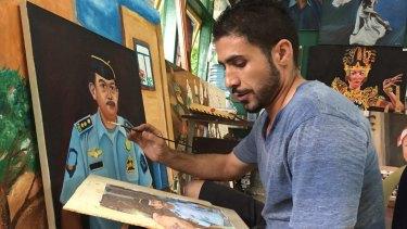 Rouhallah Series Abadi has taken over the art room in Kerobokan jail at Myuran Sukumaran's request.