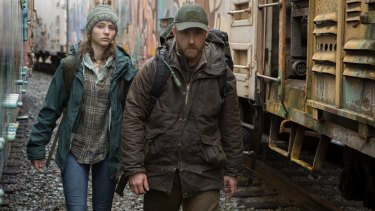 Thomasin Harcourt McKenzie and Ben Foster as Tom and Will  in <i>Leave No Trace</i>.