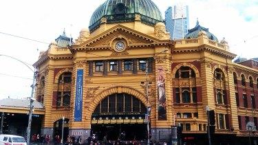 In need of repair ... Flinders Street Station.