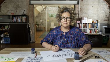 Veronica Grow, the founder of Old School New School Design and Typography in Melbourne.