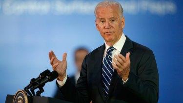 US Vice President Joe Biden speaks in Melbourne on Monday.