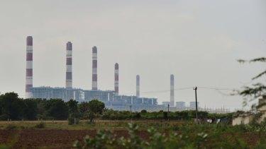 The Adani Power plant inside the special economic zone near Tragadi Bandar on the Kutch Coast of India.