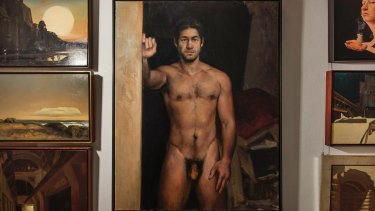 In the hallway: <i>Simon In The Shadows</i> by Peter Churcher.