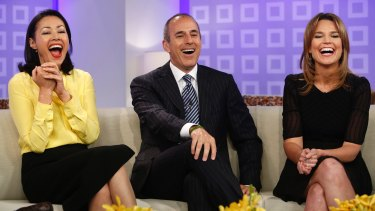 Ann Curry with Matt Lauer before she was replaced on the Today show with Savannah Guthrie.