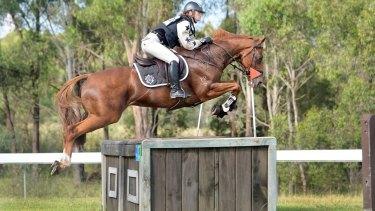 Olivia Inglis riding Coriolanus at the Sydney Summer Classic in February 2016.