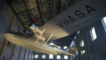 The Powerhouse Museum has several large objects in its vast collection, including a Catalina flying boat.