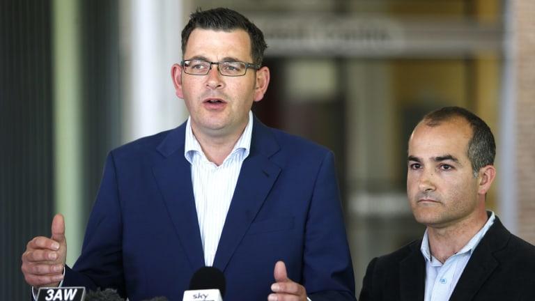 Premier Daniel Andrews and his deputy leader James Merlino.