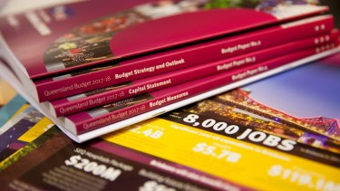 The 2017-18 Queensland budget papers.