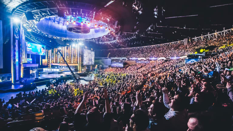 Fans get ready for the final IEM 2016 event in Katowice, Poland.