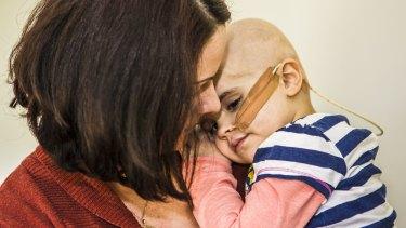 Lauren McGuigan and her daughter Annie, then 3, in October last year.