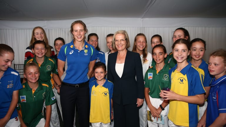 Stars on show: The Southern Stars attended a function at the Lodge with Lucy Turnbull on Wednesday.