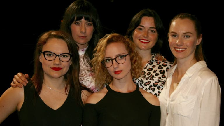 Women in Theatre and Screen Think Tank organisers (from left) Erica Lovell, Libby Munro, Clementine Mills, Maryann Wright and Lizzie Schebesta.