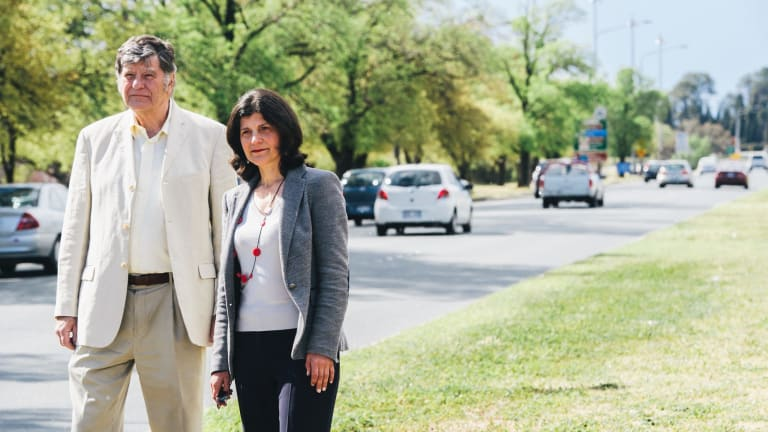 South Canberra council chair Marea Fatseas and deputy John Edquist are worried about Commonwealth ave development plans and their impact on traffic coming from the south.