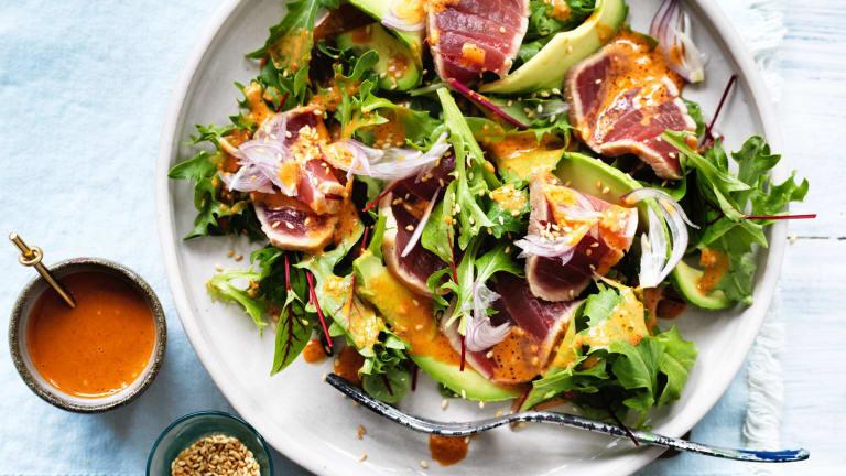 Seared tuna salad.