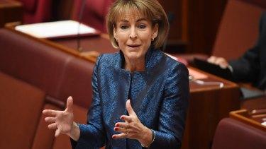 Snubbed: Employment Minister Michaelia Cash.