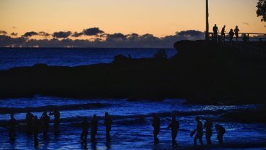 Manly swimmers prepare to take the plunge as big chill arrives over NSW.
