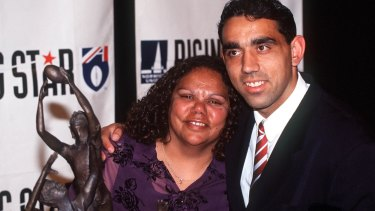 Adam Goodes and his mother, Lisa.