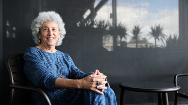 Professor Marion Nestle at Flying Fish restaurant in Sydney last week.