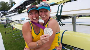 Kate Hornsey and Sarah Tait (right) win silver in 2012.