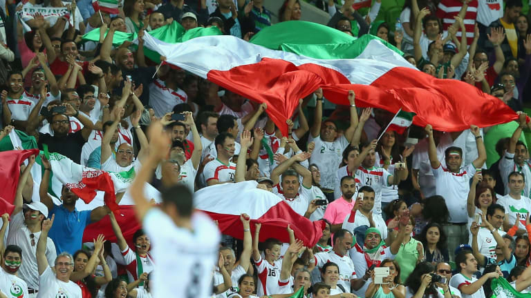 United: Fans of Iran's national football team at the Asian Cup.