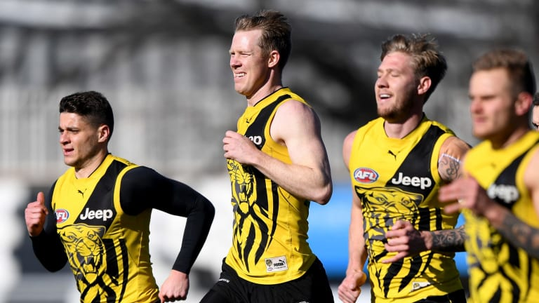 Jack Riewoldt is expected to play on Saturday.