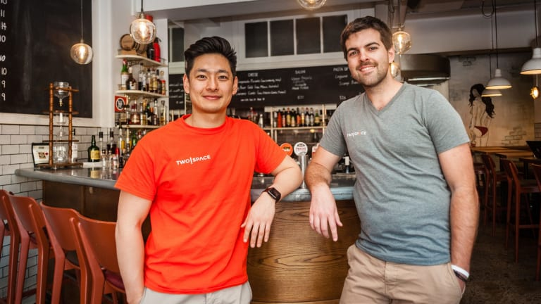 TwoSpace co-founders Tashi Dorjee and Rob Walker are launching their service in Sydney next week.