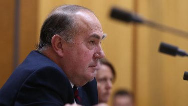 Treasury secretary John Fraser appeared before Senate estimates on Monday.