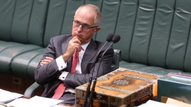 Communications Minister Malcolm Turnbull during Data Retention Bill discussions at Parliament House earlier this year.