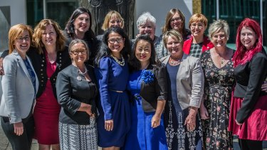 The 13 women sworn in to the Legislative Assembly on Monday represent Australia's first ever female parliamentary majority.