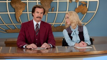 Will Ferrell and Christina Applegate in <i>Anchorman</i>.
